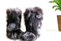 Secretfashionlabel.etsy.com Real Fur Boots