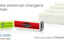 Personalized Chargers / Customized external chargers with logos.