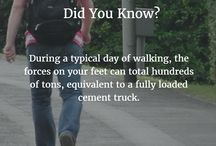Foot Facts / Images accompanied by facts about the feet!