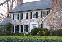 Brick House / Distressed brick exteriors
