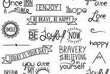 lettering & doodling