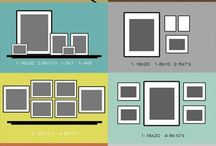 Gallery Wall Layout Ideas / Need inspiration? Here are some of our favorite gallery wall and photo wall layout ideas.
