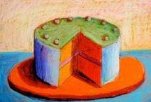 pastel boya ile pasta resimleri