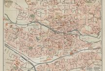 Vintage maps for wall decoration