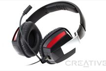 Creative Draco HS-850 / Pełnowymiarowy zestaw słuchawkowy dla graczy z odłączanym mikrofonem i składanymi muszlami ułatwiającymi przechowywanie zestawu