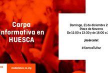 Carpas Informativas C's Huesca / Ciudadanos Huesca, agrupación de C's Aragón quiere acercarse a la ciudadanía a pie de calle, conocer sus inquietudes y sus reivindicaciones. Carpas Informativas y mesas informativas de nuestros proyectos para los ciudadanos
