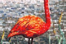 Vogels mozaiek
