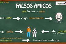 Falsos amigos (Alemán-Español) / Flasche Freunde (falsos amigos) alemán-español
