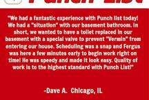 Punch List Testimonials!  / Check out what our customers had to say about us. :)