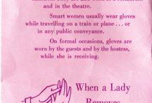 Glove etiquette