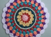 Mandala Wheels 7 / Crochet Mandala Wheels created for Yarndale 2014