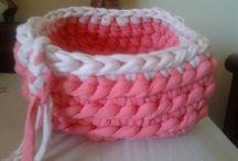 Trapillo y punto-crochet