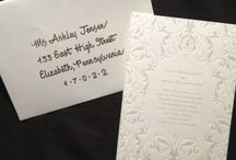 From Sooner Calligraphy:  Hand Addressed Envelopes / Hand Addressed Wedding Invitation Envelopes from Sooner Calligraphy.  Visit me! www.soonercalligraphy.com and facebook.com/soonercalligraphy