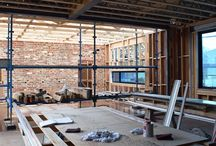 sustainable design, pascoe vale / a new ecologically sustainable home is under construction