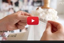 Videos / Video tutorials on how to choose, style and care for your wedding accessories.