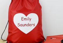 Personalised PE Kit Bags / These lovely personalised, water resistant kit bags are ideal for all the sport's that your children are involved in. Or simply for a day out, it is also great for a school bag when your children need all of their items personalised!
