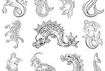 mořská monstra,lodě a mapy