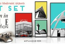 Jet Set / The Jet Set collection by Art & Hue is inspired by the golden age of travel and the forward-thinking architects who created Mid-Century temples of flight that wouldn't have seemed out of place in The Jetsons.  http://artandhue.com/jetset/