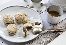 PRALINE / Macaron with home-made almond, hazelnut and bitter chocolate praline. (photo:Dionisis Andrianopoulos, Styling: Anestis Michalis, Photographer assistant: Konstantina Statha)
