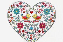 cross stitch - heart