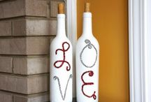 Wine bottle crafts / by Heather Szparks