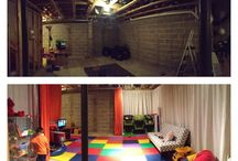 Basement Ideas / Play room, Exercise Space, Spare bedroom, Future dreams for finished space