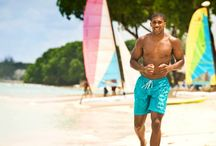 Celebs in Barbados / Some of your favorite celebrities can be spotted on the shores here in the beautiful island of Barbados. Many have been seen basking in the sun at the beach or performing on the stages of major shows. Celebs love Barbados.