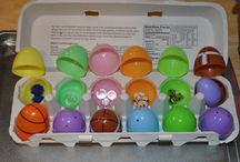 Easter Egg-stravaganza! / Different ways to repurpose and reuse the numerous plastic eggs we have hanging around after easter.