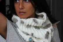 Cuellos de lana étnicos / Cuellos de lana étnicos. Bufandas estilo boho chic.