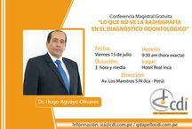 Conferencia Magistral Gratuita / Conferencia del Dr. Hugo Aguayo en la ciudad de Ica el 15 de julio.