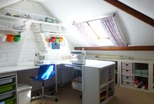 My New Craft Room! / My new craft room in the loft/attic, inspired by images found on Pinterest