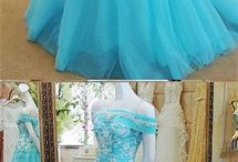 Princess style ball gowns