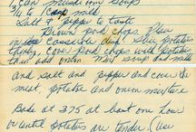 Old Recipes / by Cathy LaFayette