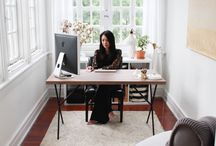 Sunroom Offices / We love sunrooms as offices.