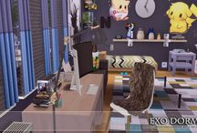 My Sims 4 Exo Dorm - Bed Rooms (Decoration)