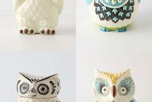 Baglyok / Különféle bagoly ábrázolások. Élő, dekoráció, dísz
