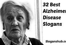 Alzheimer's Disease Slogans