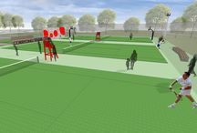 Proposed Corryong Tennis Courts Upgrade / The tennis courts were identified as a community priority during the Corryong Recreational Reserve masterplan process. Towong Shire is currently seeking funding to match dollars already raised by the community and Council. Total project cost estimated at $157,610.