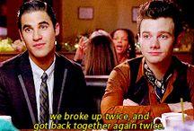 Kurt Hummel, Blaine Anderson-Klaine-Glee, Glee Concerts, behind the scenes etc. / Chris Colferas Kurt Hummel, Darren Criss as Blaine Anderson