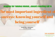 What's On at The Academy for Fabulous Women / A membership club for women supporting you in ALL the roles you play. The Academy will help you achieve your goals & grow your career with confidence.  But it will also help you with all the other stuff you're dealing with, like managing your hormones, your time, your other half or your house! You'll get access to a library of videos, workbooks & audios. You'll get coaching & masterclasses. Best of all, you'll find a supportive network of smart, friendly women.  www.amandaalexander.com/academy / by Amanda Alexander