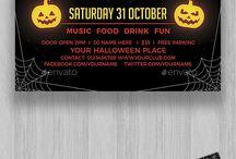 Halloween parties flyers