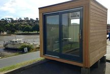 FOR SALE OFFICE 2017 - NEW PRICE / FOR SALE - NEW PRICE! Here we have a complete discounted prototype fully finished Micro box. Perfect for a Garden office/garden room!. Ready to go !  SIPS build (60 yrs life span) with ALU clad double glazed Rationel sliding door and window . clad in kiln dried Siberian Larch with contemporary black timber rear elevation. EPDM roof with fiberglass trim. Hickory laminate flooring. Stainless sockets and downlighters. Size - 2.7 x 2.5 £5,995 inc VAT  Delivery at buyers expense.