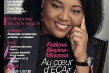 BRUNE MAGAZINE N°63 FATIMA BEYINA MOUSSA, Au couer ECAir / Découvrez le nouveau #BruneMagazine N°63 avec #FATIMA BEYINA MOUSSA, Au couer ECAir - Equatorial Congo Airlines la 1ere femme DG d'une compagnie Aérienne en Afrique Fracophone. #Société:les nouveaux sens du luxe: Quand le Beau rencontre le Bien #Business: Nouvelle économie, Acheter ou donner #Style: le grand retour des robes longues ..... #Beauté: le bon usage de la cosméto #François Hollande et la mémoire de l'esclavage A lire dans le Nouveau Brune Magazine N°63