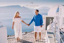 Honeymoon photoshoot / Boris and Olga photographed in Oia,Santorini Greece during their honeymoon