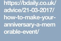 How to Make Your Anniversary a Memorable Event