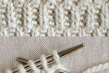 Knitting Stitches, Edgings, etc.
