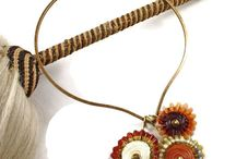 Lyn Foley Pendant Collection - Handmade Jewelry Necklace / One of a kind pendant necklaces by glass artist Lyn Foley