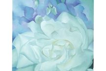 Georgia O'Keeffe - Painter / Georgia O'Keeffe's flower paintings. For more floral inspiration and flower arranging tips - visit my blog Of Spring and Summer: http://ofspringandsummer.blogspot.co.uk/