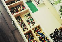 * LEGO Storage Ideas * / Those little bricks get everywhere, so here's a board dedicated to keeping them off the floor and away from your bare feet. / by Laura The Toy Tattler