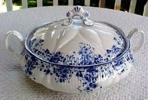 Blue & White / Blue and white china dishes and home accessories